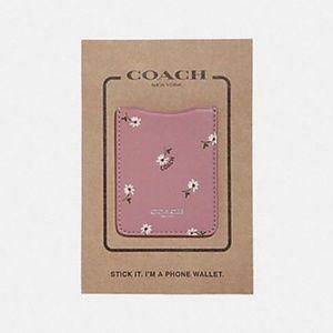 Coach Phone Pocket Sticker With Ditsy Daisy Print